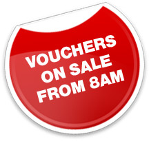 Vouchers on sale from 8am